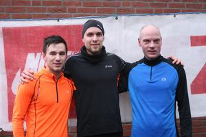 Schnellste Männer: Moritz Marquard, Michael Kendelbacher und Andreas Kramer (von links).