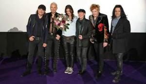 Die Scorpions mit Filmemacherin Katja von Garnier