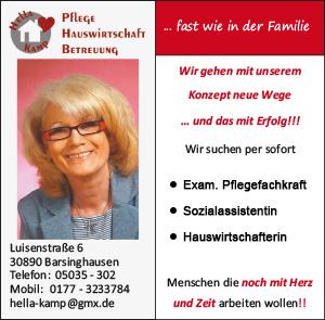 Anzeige Pflegedienst Hella Kamp