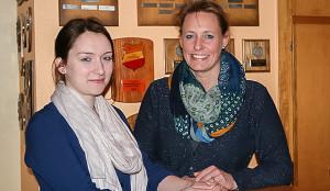 Ablösung: Einzige Neubesetzung auf Germanias Vorstandsebene war die Wachablösung im Frauenressort. Clementine Seebeck (rechts) gab ihren Posten an Mabel Brunke ab. Fotos: Bratke