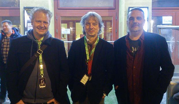 Filmemacher: John Seidler, Frank Steffan und Dirk Schlömer (von links).   Fotos: privat
