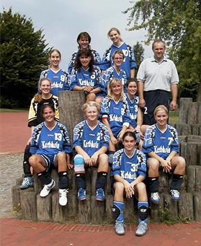 Erfolgreiches Team: Große Erfolge feierten die HSG-Damen unter Trainer Gerd Roglitzki.   Fotos: