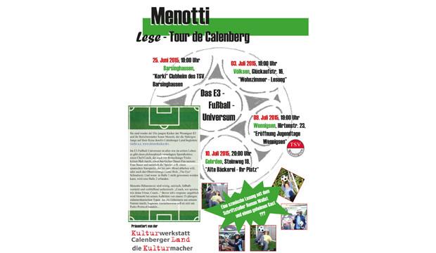 Menotti startet seine Lesetournee mit Auswärtsspiel in Basche