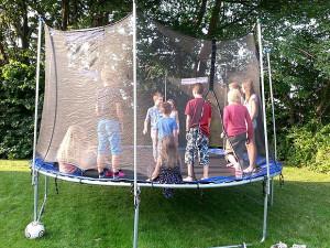 Highlight: Das Riesentrampolin brachte jede Menge Spaß.