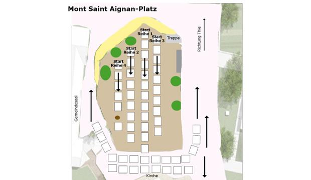 """Diner en Blanc"" auf dem Mont-Saint-Aignan-Platz"