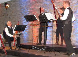 Support für den Chor: Die Fagottiere aus Hannover.