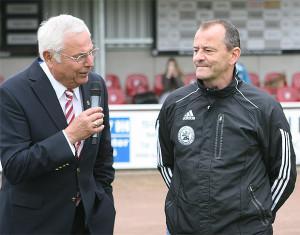 Präsident und Vorsitzender: NFV-Boss Karl Rothmund und JFV-Chef Holger Giese.