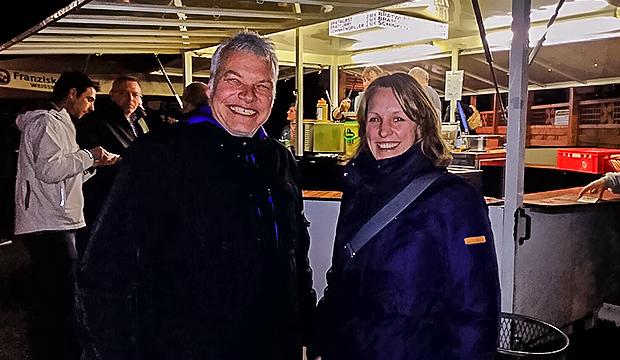 Treffpunkt SC Elite: Jens Widdel (TSV Barsinghausen) und Anna-Janina Niebuhr (Regionssportbund Hannover). Fotos: privat/Bratke