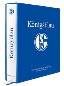 """Dicker Wälzer: """"Königsblau"""" – ein Muss für jeden Fan vom S04. Das Werk gibt es auch in einer limitierten Premium-Ausgabe."""