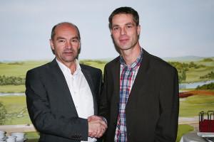 Direktorenwechsel: Steffen Heyerhorst (rechts) rückt auf die Stelle von Walter Burkhard (links) auf.