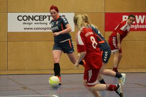 Herausragend: Melissa Kopf (links) zeigte ihr Können sowohl beim Fußball als auch beim Handball.
