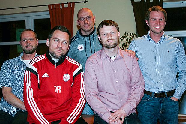 Leistungstrainer: Ralf Schauer, Jan Zimmermann, Jan Bornschein, Falk Mesecke und Paul Nieber (von links) sehen der Partnerschaft positiv entgegen.