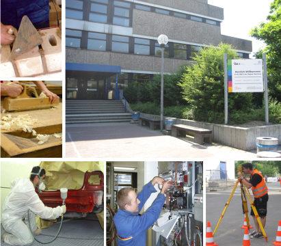 Schülerinnen und Schüler lernen Berufe am Bau kennen