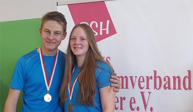 Vielversprechender Start: Paul Knuth und Charlotte Mätze von SGS Barsinghausen. Foto: privat