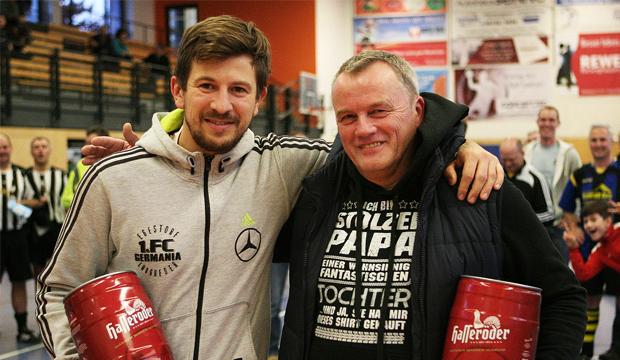 Ausgezeichnet: Torschützenkönig Andreas Baranek (links) und Top-Keeper Detlef Fiedler.