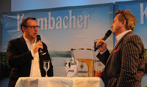 Wunsch: Im Gespräch mit Christoph Dannowski (rechts) wünschte sich Martin Bader für 96 einen ein 3:1 über Darmstadt.