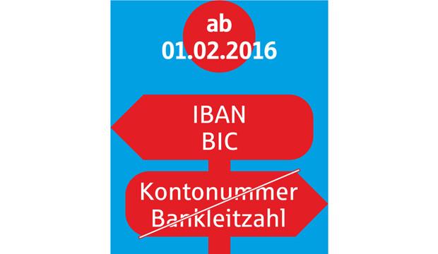 Aus Kontonummer wird IBAN