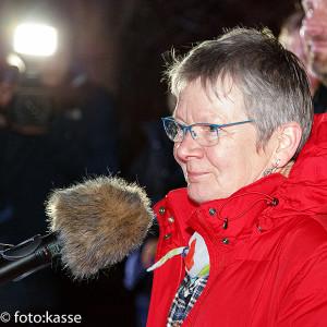 Eröffnete die Abschlusskundgebung: Pastorin Ute Kalmbach