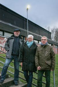 Stolz auf die Eigeninitiative: Klaus Schwarzer, Heike Zündorf und Bodo Martin (von links).