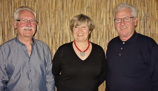 Bestätigt: Friedel Mück, Edeltraud Funch und Manfred Bauer (von links) wurden einstimmig in ihren Ämtern bestätigt. Foto: privat