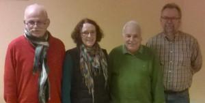 Alt und neu: Wiederwahlen gab es beim Tennisvorstand des TSV Kirchdorf – von rechts: Gerhard Giesecke, Wolfgang Schmoley, Christine Wendorff und Günter Wendorff. Foto: privat