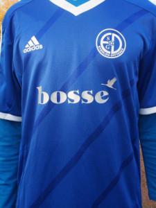 """Bosse-Sponsoring: Auch der populäre Sänger bringt sich unterstützend ein. Die B-Junioren der SGE tragen den Schriftzug """"Bosse"""" auf ihren Trikots."""