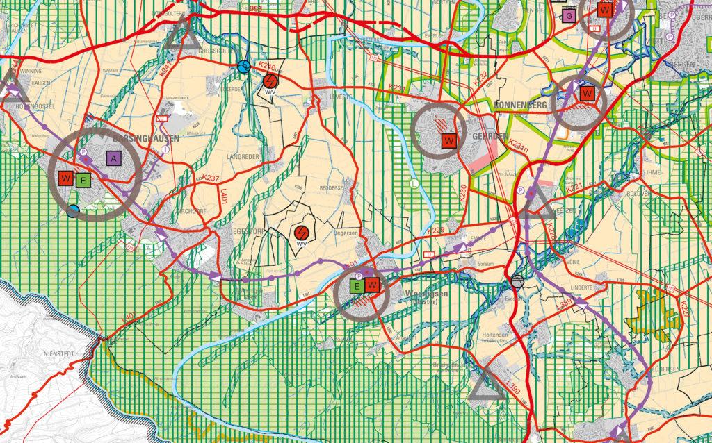 Konfliktzone Windkraft vs Modellflieger: Die neue Vorrangzone bei Degersen könnte Folgen für die Modellflieger haben. Karte: Region Hannover