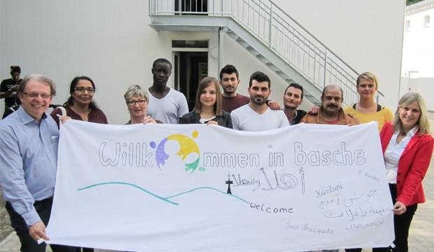 Willkommen in Basche unterstützt Willkommensfest