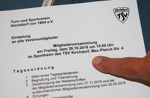 Einladung: Die ordentliche MV am 28. Oktober sollte für Mitglieder des TSV Kirchdorf ein Pflichttermin sein. Foto: Bratke