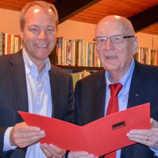 Herbert Droste für 60 Jahre SPD-Mitgliedschaft geehrt