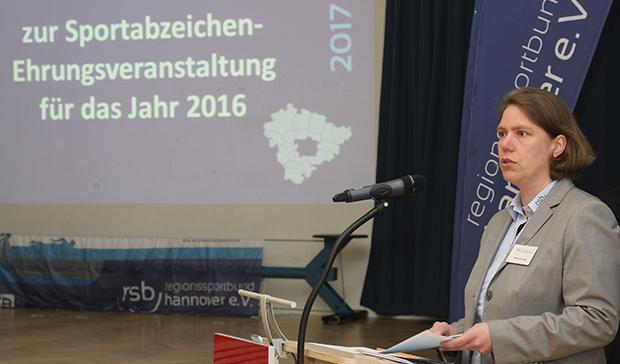 Sprach lobende Worte: RSB-Sportwartin Katharina Lika.