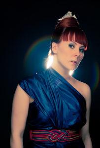Chef im Ring: Heidi Solheim – Sängerin, Texterin und Songschreiberin der Band Pristine. Foto: Marius Fiskum