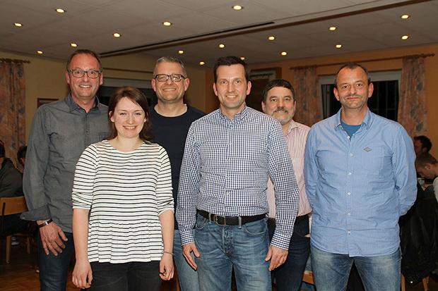 Neues Vorstandsteam: Ralf Dismer (von links), Mabel Ann Brunke, Martin Surau, Andreas Nikolai, Martin Kunz und Holger Giese.