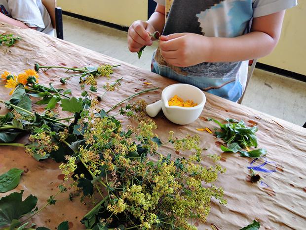 Selbstgemacht: In der Kunstschule Noa Noe lernen die Kursteilnehmer die Herstellung von Farben aus Naturmaterialien.