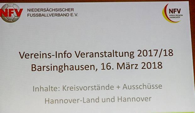 Pflichtveranstaltung: Insgesamt acht Informationsveranstaltungen, darunter auch in Kirchdorf, richteten die NFV-Kreise Hannover und Hannover-Land aus.
