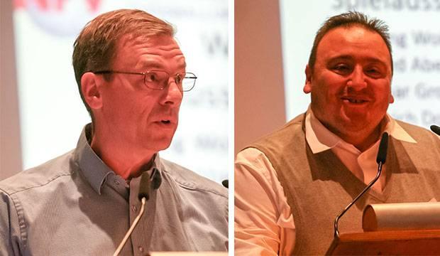 Geheime Wahl: Thorsten Schuschel (links) und Murad Cetinkaya (rechts) kandidierten für das Amt des Spielausschussvorsitzenden.
