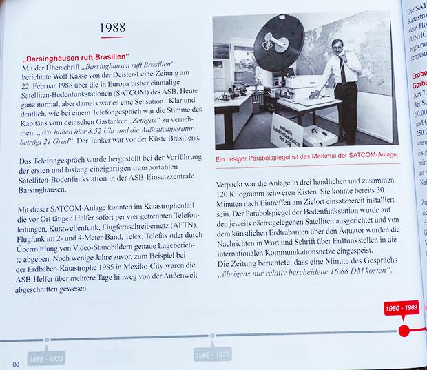 Modernste Technik 1988: Redakteur Wolf Kasse berichtet über die seinerzeit hochmoderne Satelliten-Bodenfunkstation des ASB.