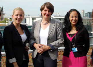 Dr. Maria Flachsbarth (mitte) unterstützt das parlamentarische Austauschprogramm des Deutschen Bundestages.