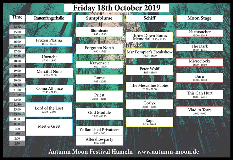 AUTUMN MOON Festival Hameln: So sieht der Freitag aus.