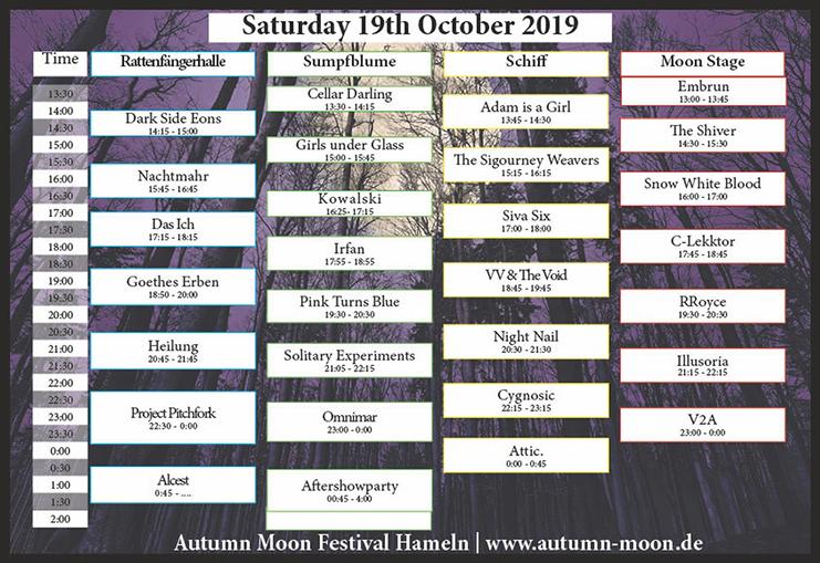 AUTUMN MOON Festival Hameln: Samstag geht es mit vollem Programm weiter.