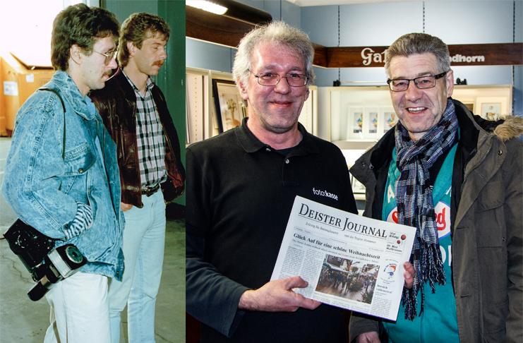Seit Jahrzehnten Freunde und Kollegen: Lokalredakteure Erk Bratke und Wolf Kasse