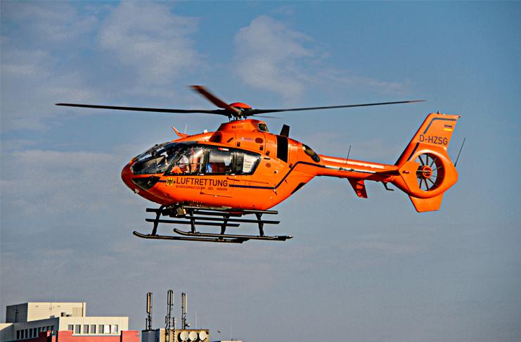 Abflug: Der Rettungshubschrauber Christoph 4 ist an der Medizinischen Hochschule Hannover stationiert. Foto: JUH