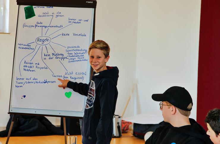 Theorieblock im Rahmen der Sportassistenten-Ausbildung der Sportjugend in der SportRegion - hier die Ergebnispräsentation.