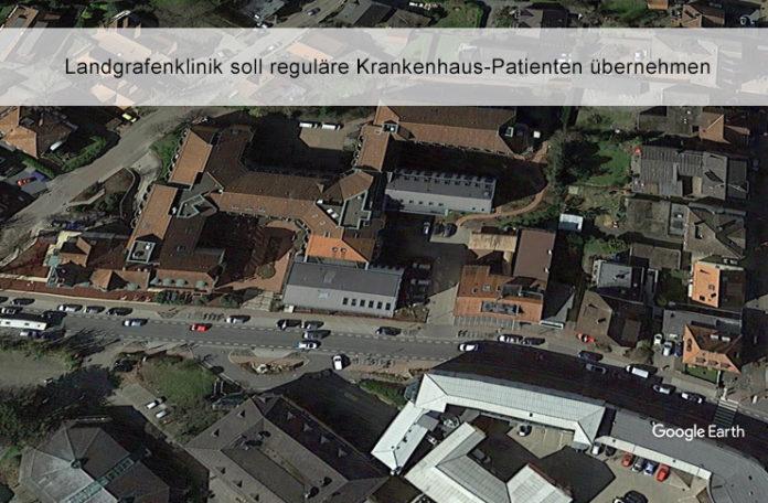 In einem ersten Schritt hat das niedersächsische Gesundheitsministerium 22 Rehakliniken angewiesen, reguläre Patienten aus Krankenhäusern zu übernehmen. Damit sollen Kapazitäten für Corona-Patienten in den Krankenhäusern geschaffen werden. Betroffen ist auch die Landgrafen-Klinik in Bad Nenndorf. Foto: Google Earth