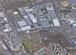 Covid-19: Mit Unterstützung der Bundeswehr wird auf dem Messegelände Hannover ein Behelfskrankenhaus eingerichtet. Foto: Google Earth