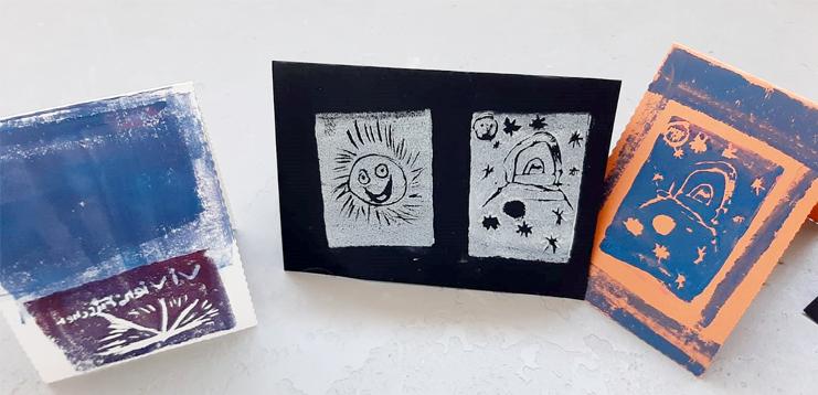 Grüße verschicken geht auch analog - mit selbst gestalteten Klappkarten. Wie man die herstellt, kann man in den Herbstferien bei NOA NOA lernen. Foto: NOA NOA