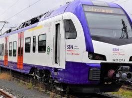 Die neuen Züge der Transdev Hannover GmbH sind bereits testweise am Start. Ab Juni 2022 übernehmen sie den S-Bahn-Verkehr in der Region Hannover. Foto: S-Bahn Hannover
