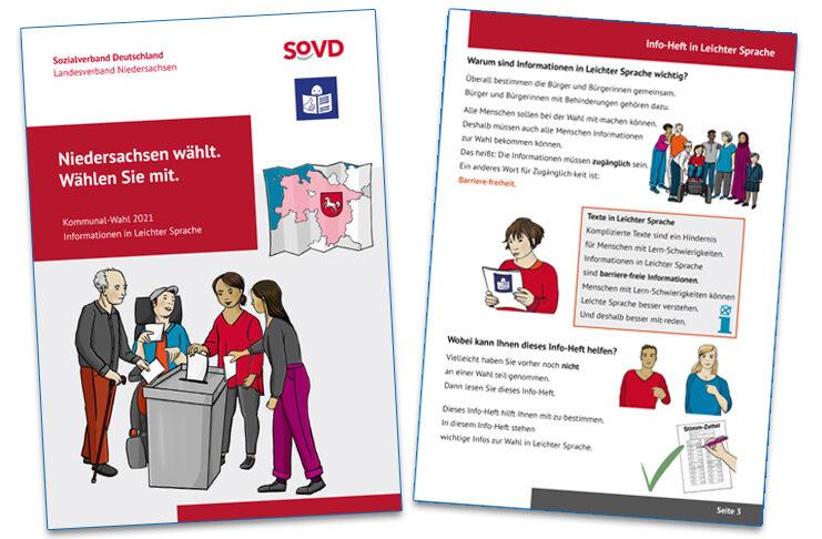 Hilft Menschen mit Behinderung: Die Broschüre zur Kommunalwahl ist in Leichter Sprache verfasst. Sie kann über den SoVD bezogen werden.